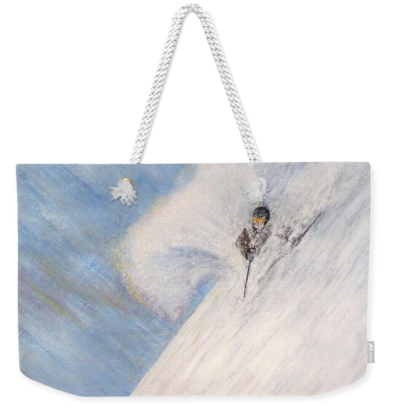Landscape Weekender Tote Bag featuring the painting Dreamsareal by Michael Cuozzo