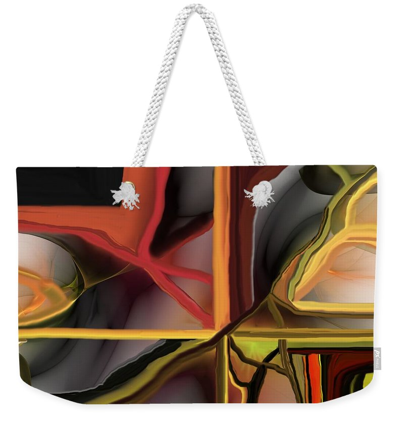 Abstract Weekender Tote Bag featuring the digital art Dreamscape 062510 by David Lane