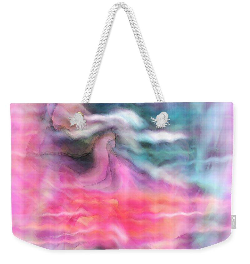Spiritual Art Weekender Tote Bag featuring the digital art Dreamscapes by Linda Sannuti