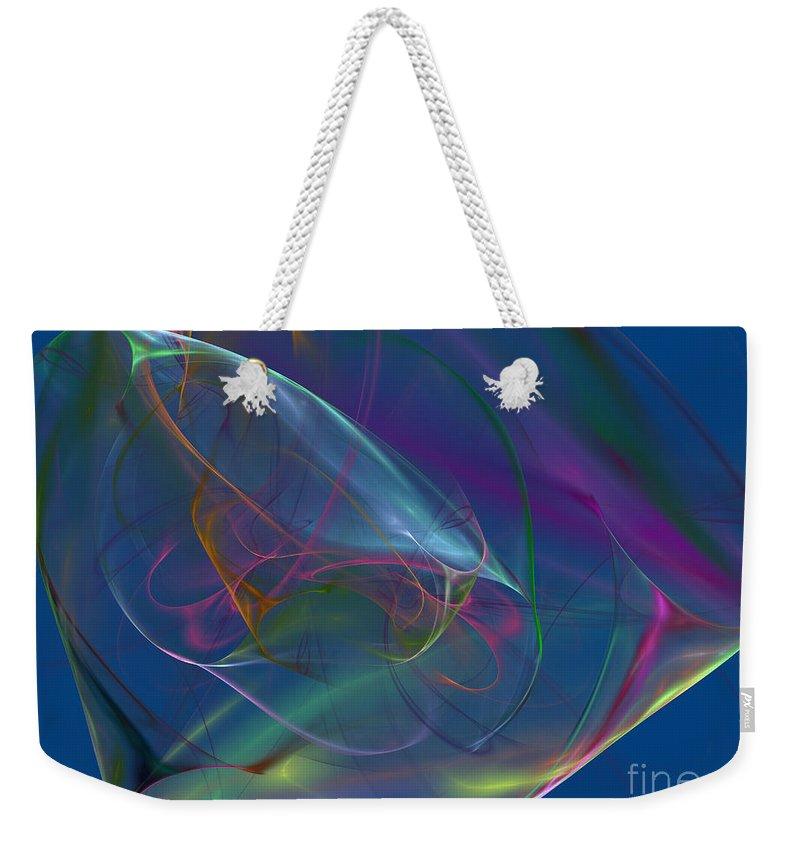 Blue. Dreamy Weekender Tote Bag featuring the digital art Dreamy Blue by Deborah Benoit
