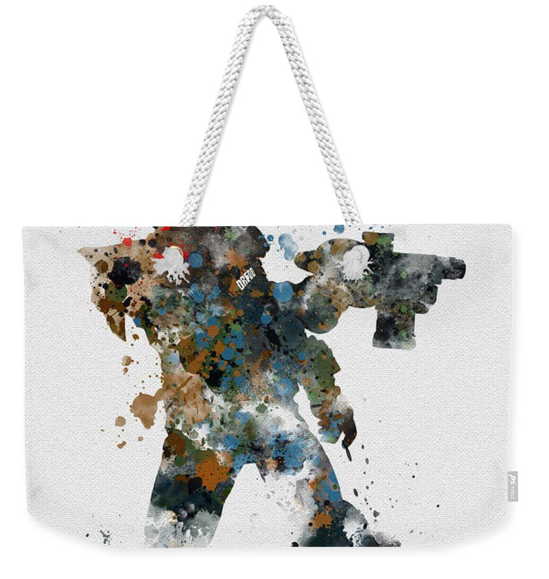 Judge Dredd Weekender Tote Bag featuring the mixed media Dredd by My Inspiration