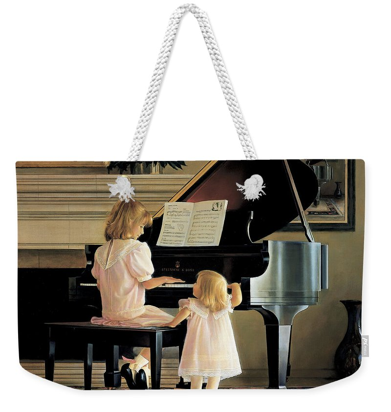 Piano Weekender Tote Bag featuring the painting Dress Rehearsal by Greg Olsen