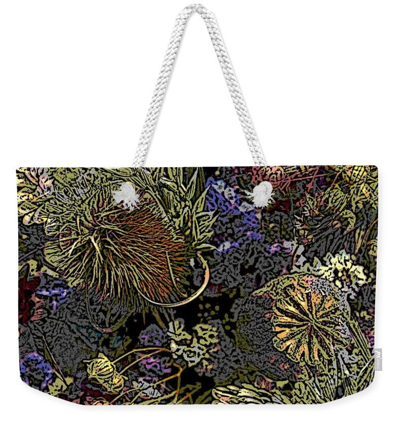 Dried Weekender Tote Bag featuring the digital art Dried Delight by Tim Allen