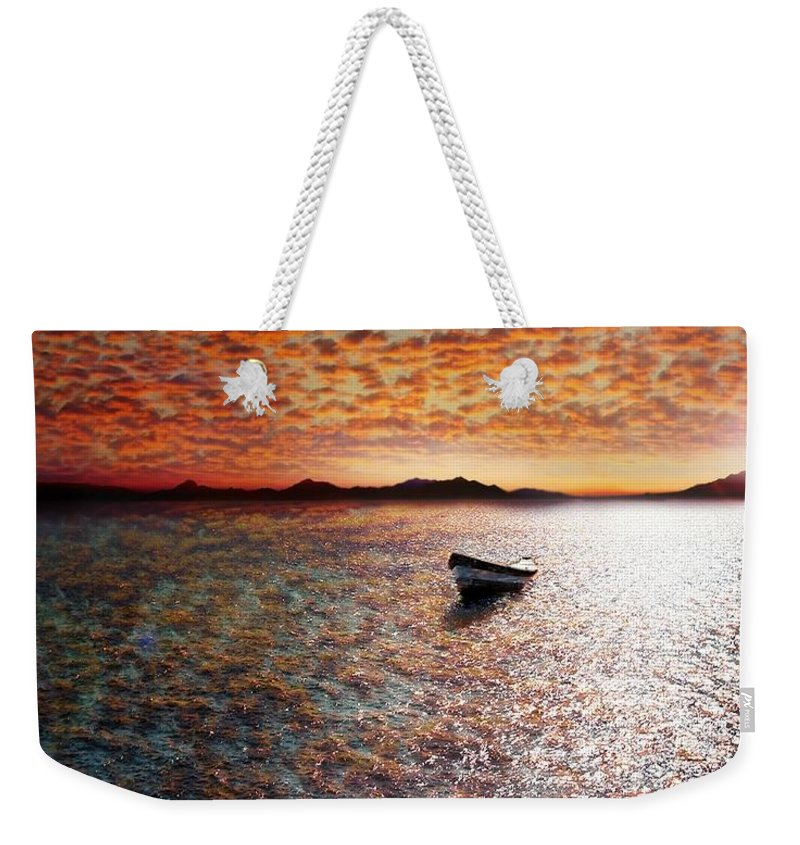 Ocean Weekender Tote Bag featuring the photograph Drift Away by Jacky Gerritsen