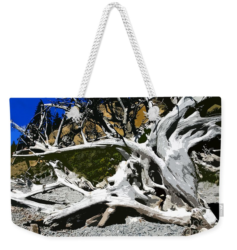 Drift Wood Weekender Tote Bag featuring the painting Drift Wood by David Lee Thompson