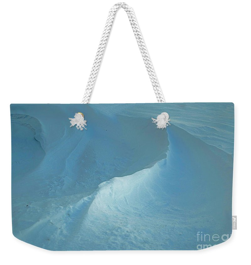Quincy Illinois Weekender Tote Bag featuring the photograph Drifted Snow Waves by Luther Fine Art