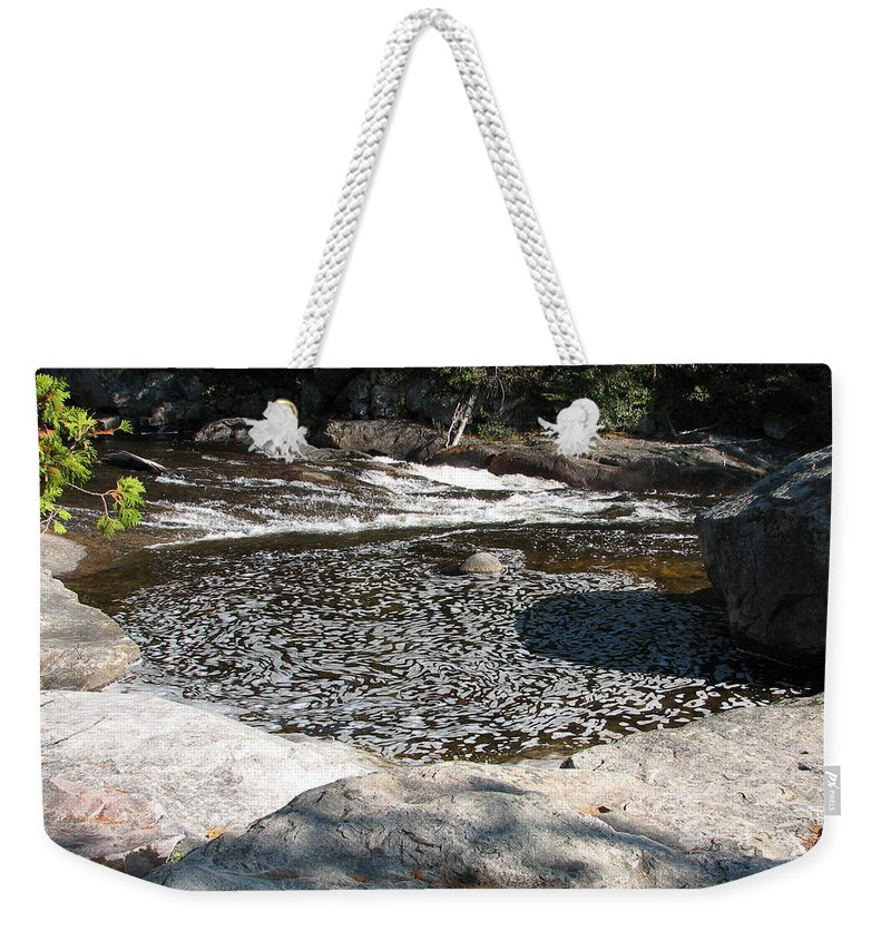 River Weekender Tote Bag featuring the photograph Drifting Dreams by Kelly Mezzapelle
