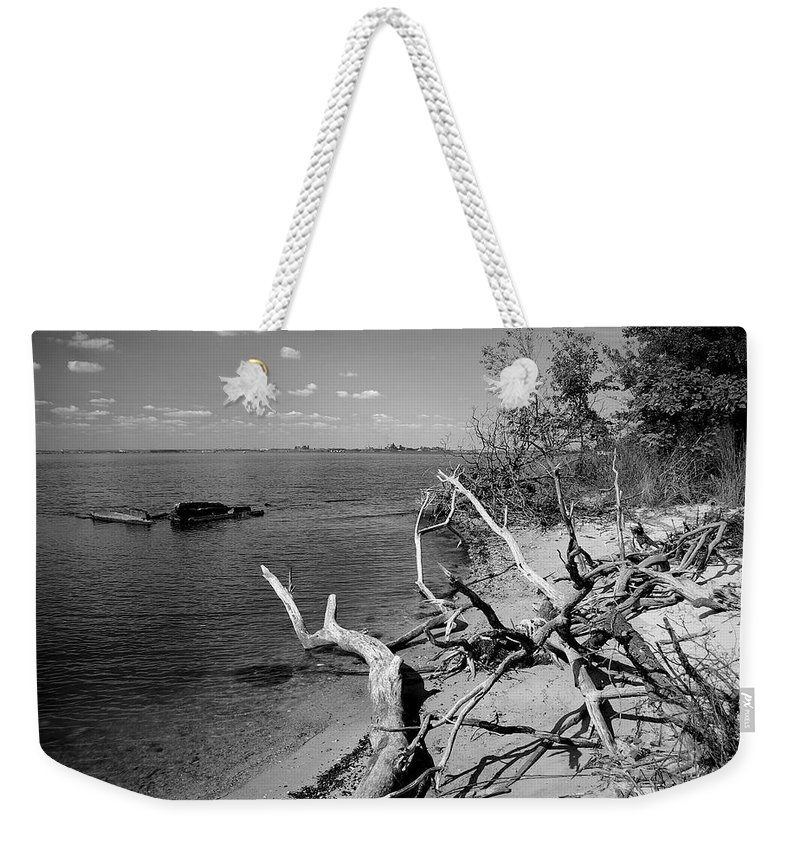 2d Weekender Tote Bag featuring the photograph Driftwood by Brian Wallace