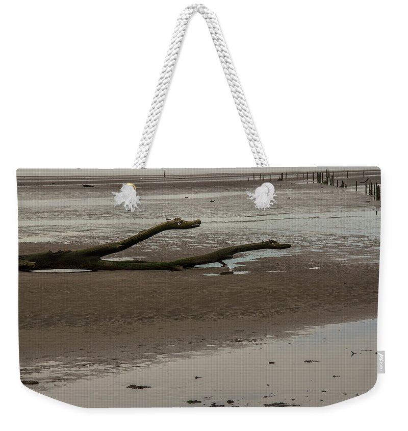 Driftwood Weekender Tote Bag featuring the photograph Driftwood Serpent by Roger Patterson