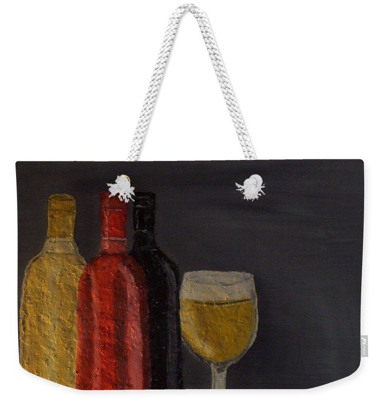 Still Life Paintings Weekender Tote Bag featuring the painting Drink After Midnight by Leslye Miller