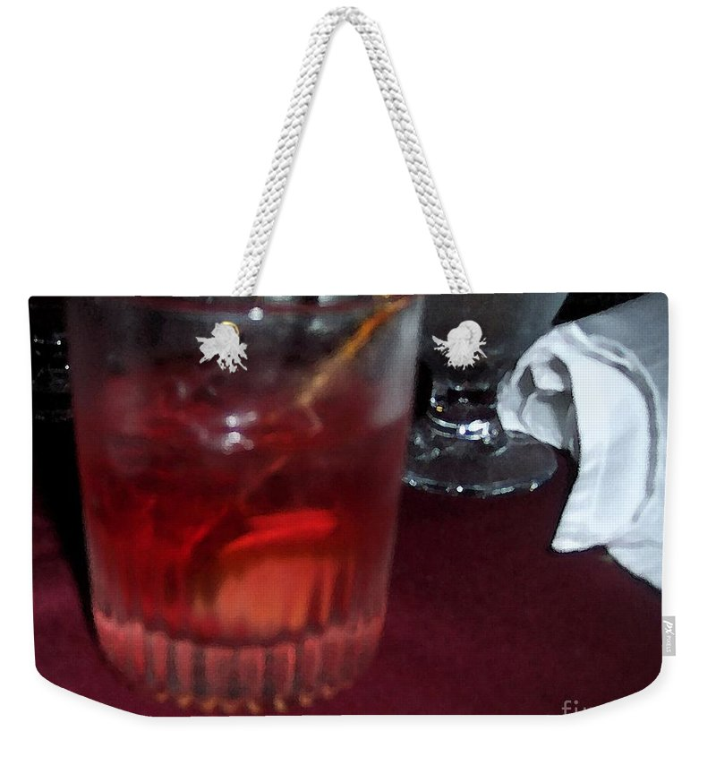 Drinks Weekender Tote Bag featuring the photograph Drink Up by Debbi Granruth