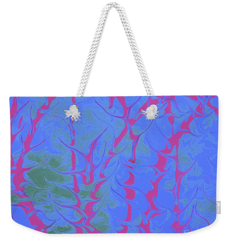 Keith Elliott Weekender Tote Bag featuring the painting Drive Naked - V1rse88 by Keith Elliott