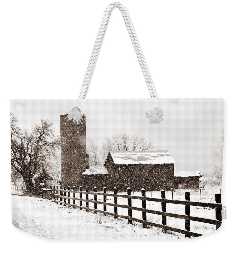 Americana Weekender Tote Bag featuring the photograph Driving Down Cherryvale by Marilyn Hunt