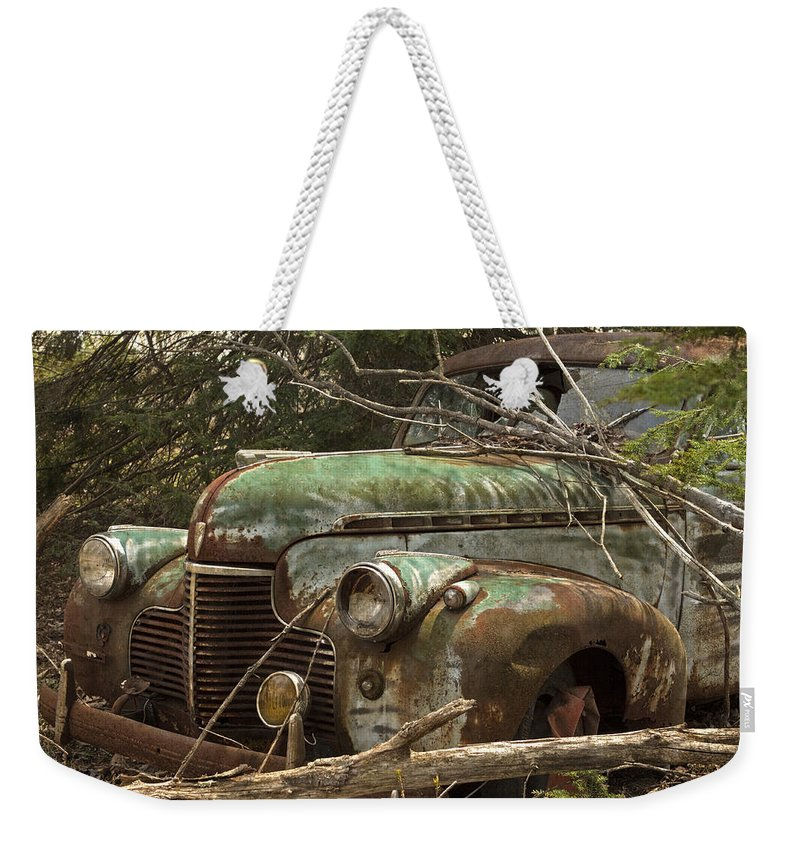 Rustbuckets Weekender Tote Bag featuring the photograph Driving Under The Influence by John Stephens
