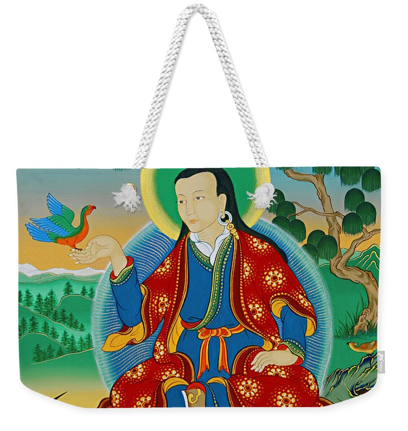 Drokben Weekender Tote Bag featuring the painting Drokben Khyecung Lotsawa by Sergey Noskov