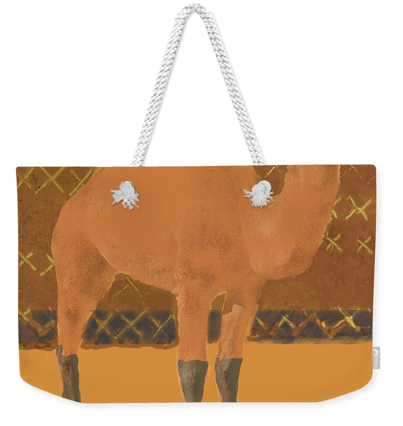 Camel Weekender Tote Bag featuring the painting Dromedary by Thomas Tribby