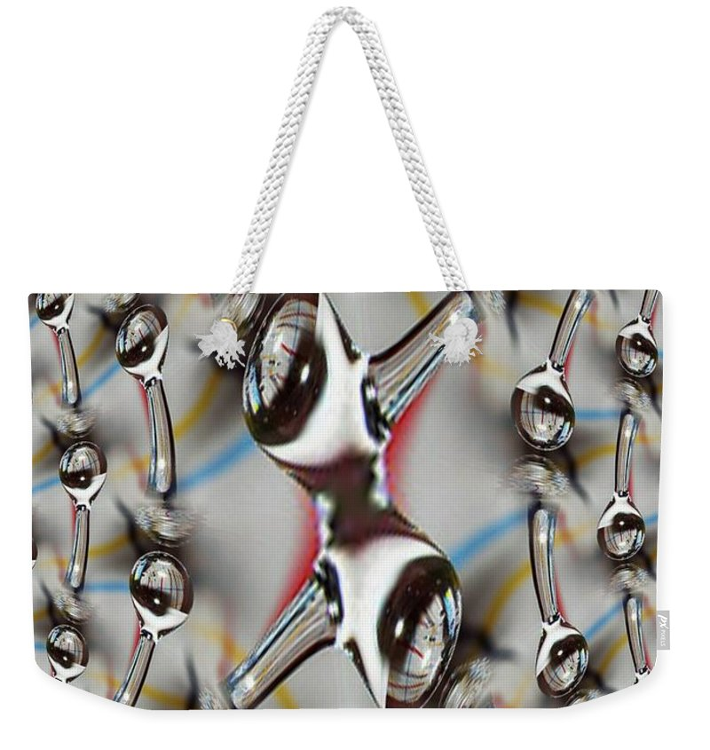 Water Weekender Tote Bag featuring the photograph Droplet 2 by Tim Allen