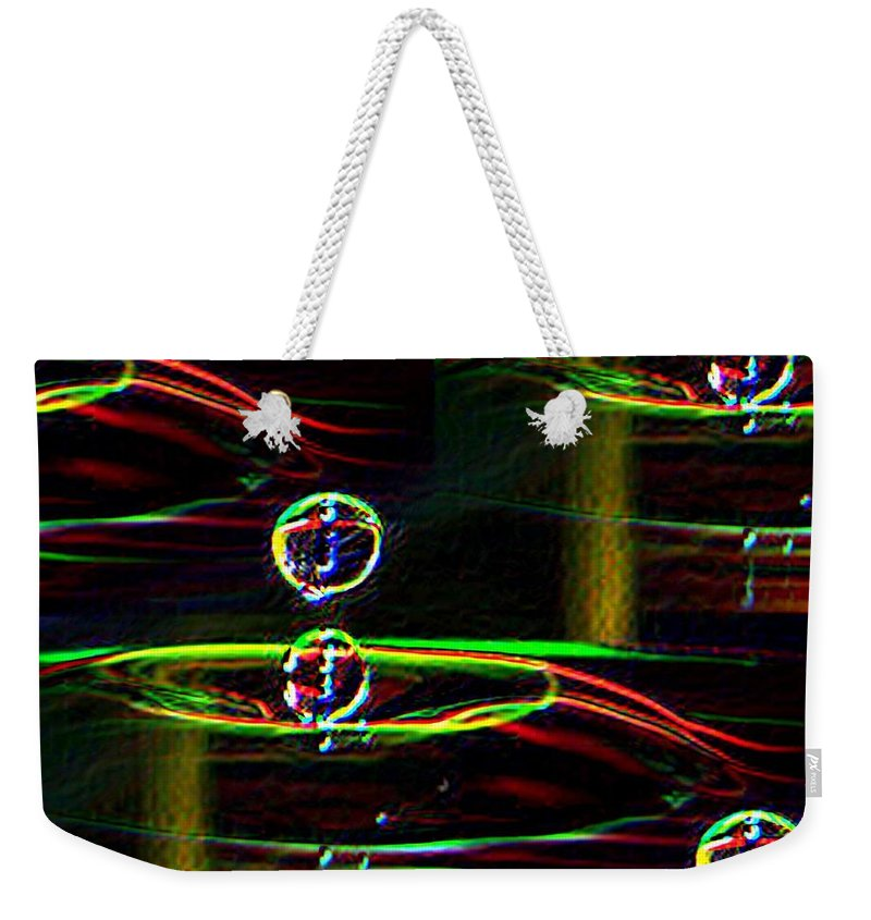 Water Weekender Tote Bag featuring the photograph Droplet by Tim Allen