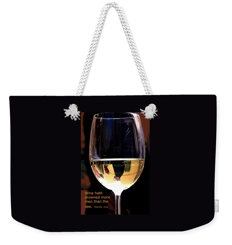 Wine Weekender Tote Bag featuring the photograph Drowning by Ian MacDonald