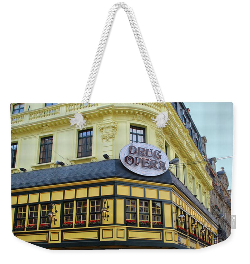 Drug Weekender Tote Bag featuring the photograph Drug Opera by Jost Houk
