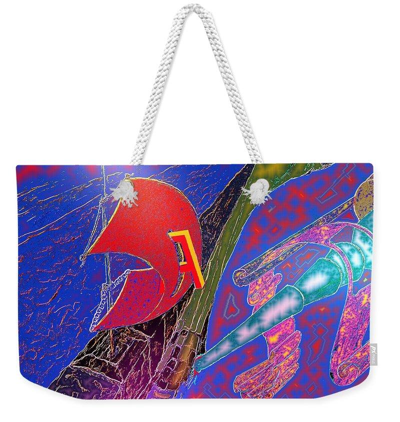 Drugs Weekender Tote Bag featuring the digital art Drugs by Helmut Rottler