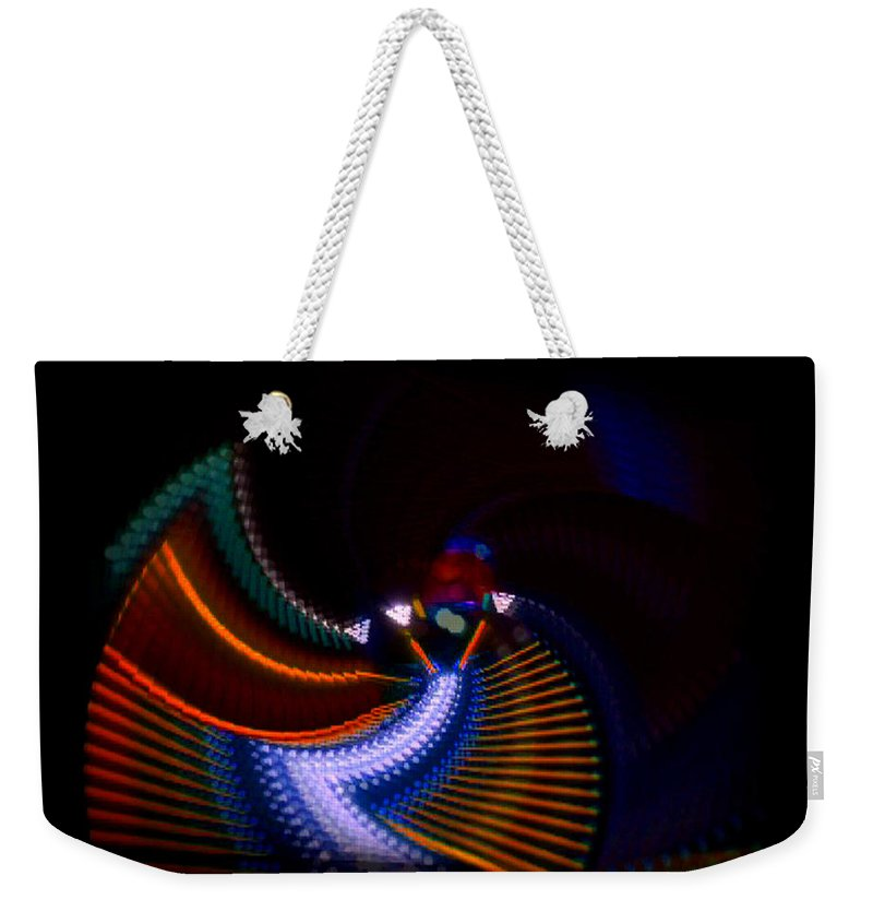 Chaos Weekender Tote Bag featuring the photograph Drummer Dance by Charles Stuart