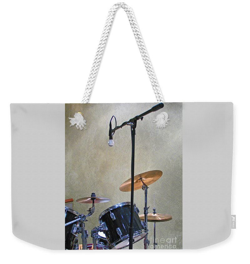Music Weekender Tote Bag featuring the photograph Drummers Joy by Ann Horn