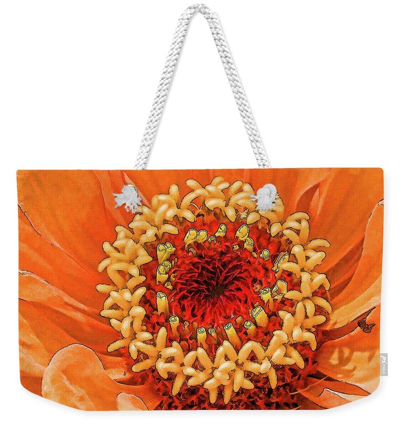 Orange Weekender Tote Bag featuring the photograph Drumpf Orange by Curt Rush
