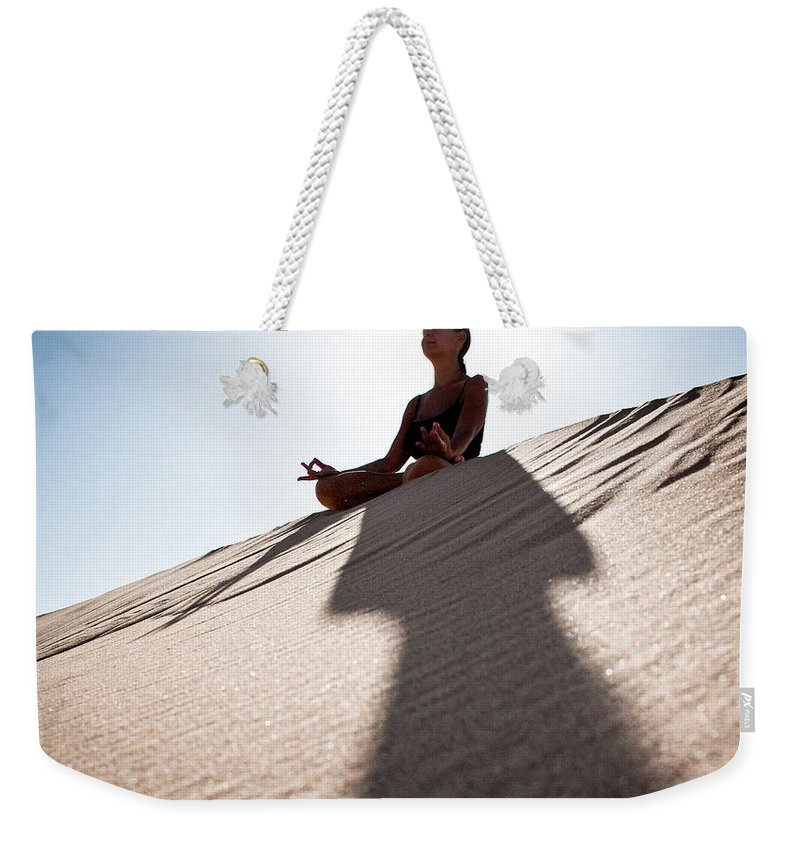 Yoga Weekender Tote Bag featuring the photograph Dry Meditation by Scott Sawyer