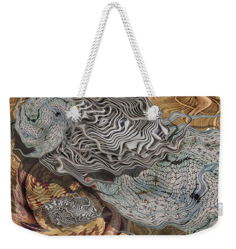 Digital Art Weekender Tote Bag featuring the digital art Dry Organics by Ron Bissett