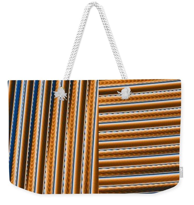 Digital Art Weekender Tote Bag featuring the digital art Duality I by Dragica Micki Fortuna