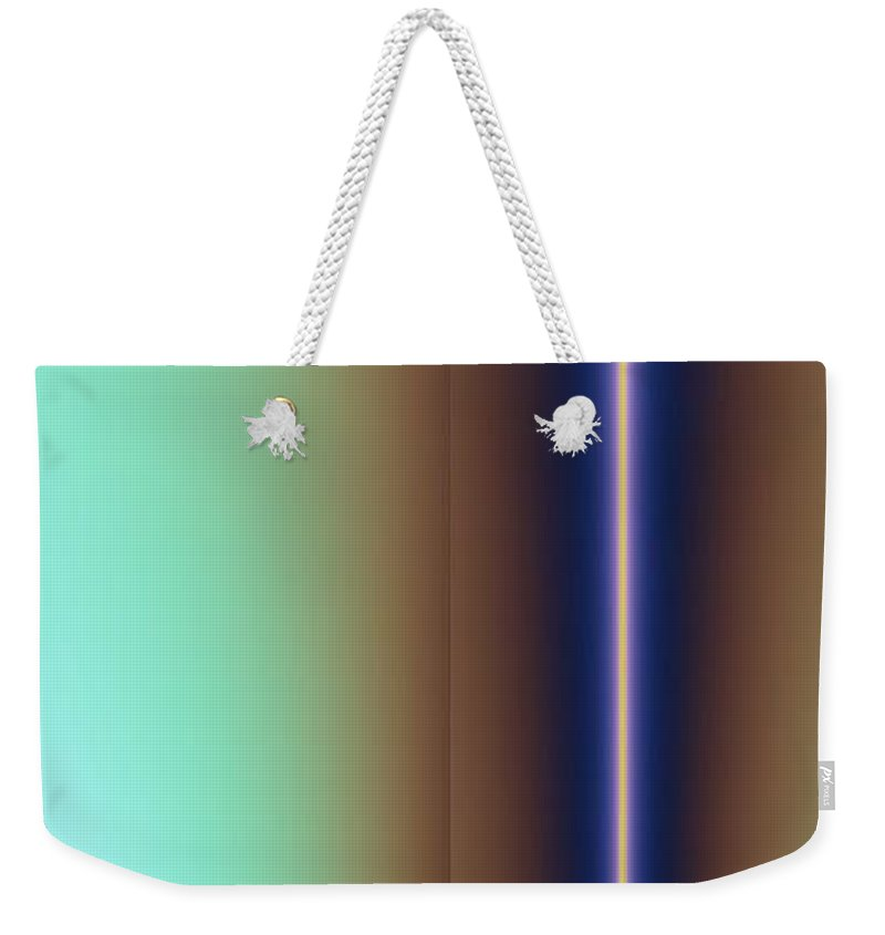 Digital Art Weekender Tote Bag featuring the digital art Duality IIi by Dragica Micki Fortuna