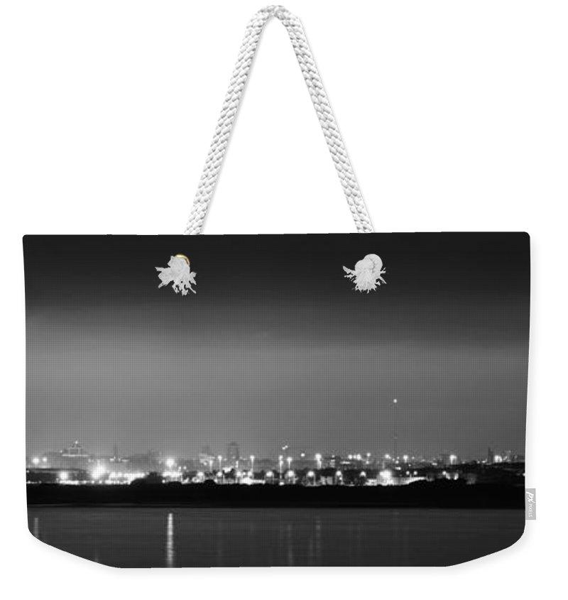 Dublin Weekender Tote Bag featuring the photograph Dublin Skyline Glow by Robert Phelan