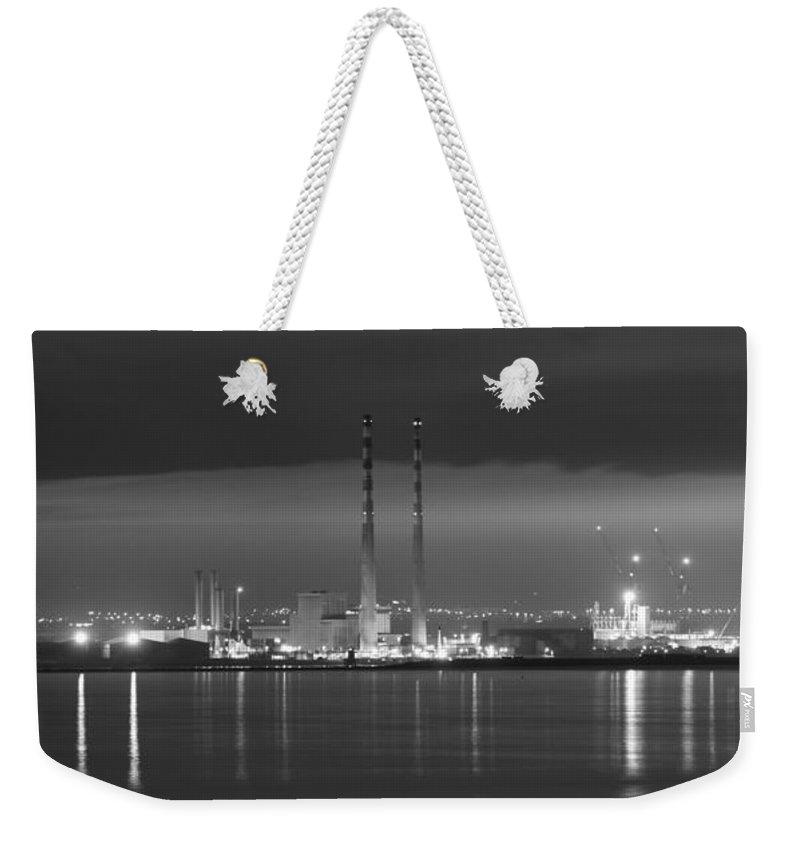 Dublin Weekender Tote Bag featuring the photograph Dublins Nocturnal Beauty by Robert Phelan