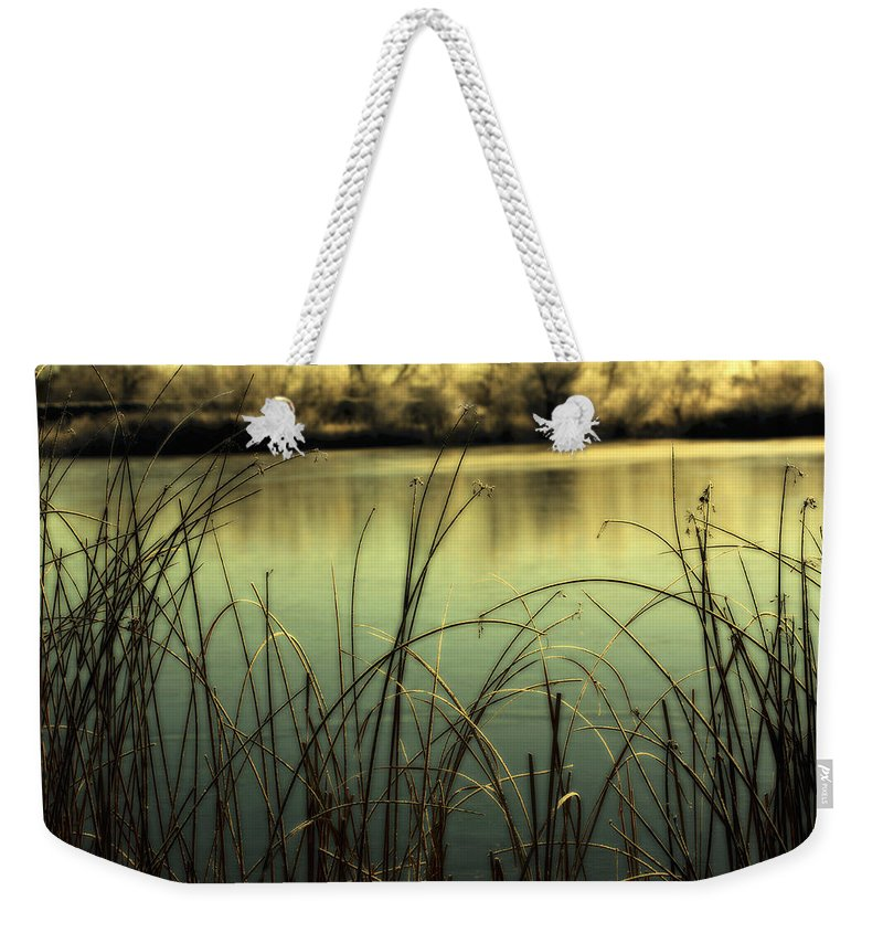 Hoar Frost Weekender Tote Bag featuring the photograph Early Morning Duck Hunting by Marilyn Hunt