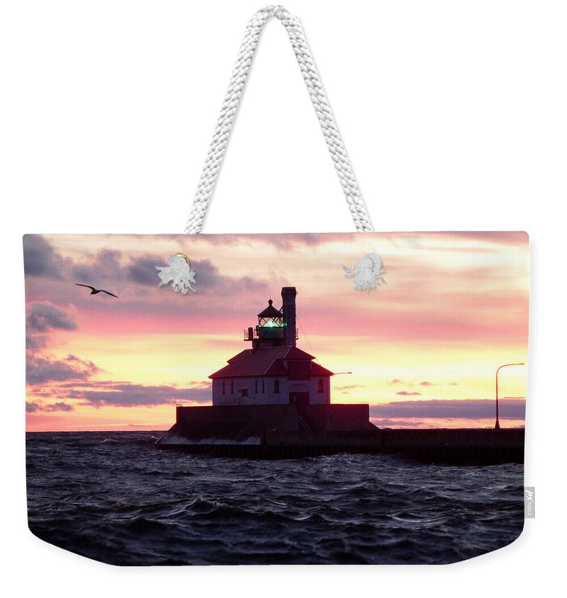 Lake Superior Weekender Tote Bag featuring the photograph Duluth Dreaming by Alison Gimpel