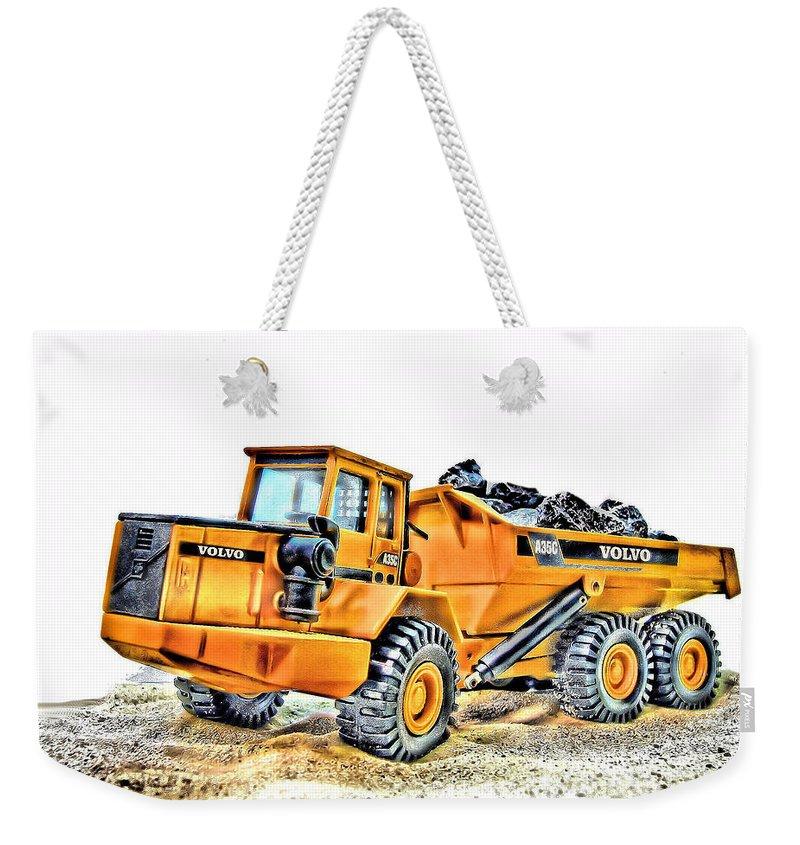 Dump Truck Weekender Tote Bags