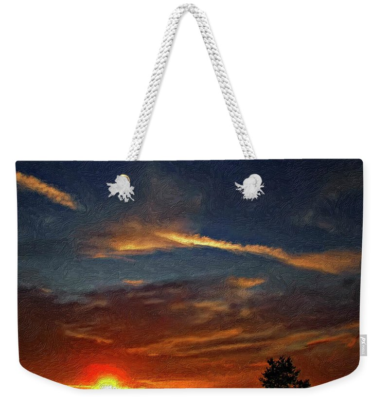 Sauble Beach Weekender Tote Bag featuring the photograph Dune Dreaming Impasto by Steve Harrington