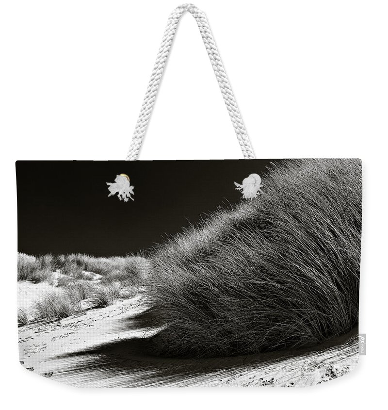 Dune Weekender Tote Bag featuring the photograph Dune Grass by Dave Bowman