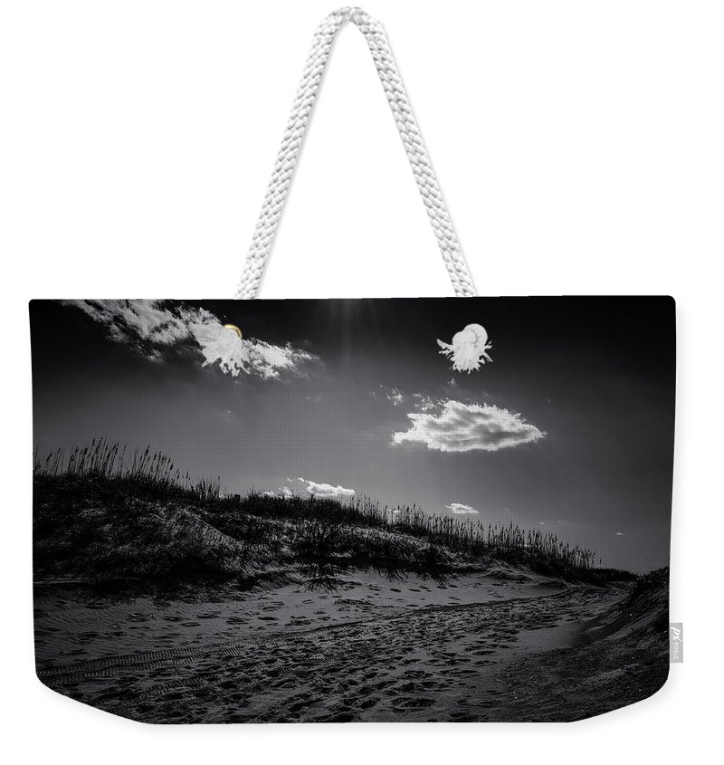 B&w Weekender Tote Bag featuring the photograph Dune Valley by Pete Federico