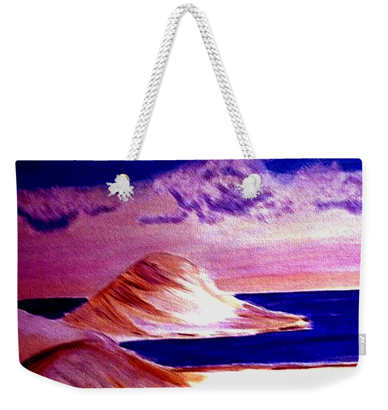 Sand Dunes Weekender Tote Bag featuring the painting Dunes by Rusty Gladdish