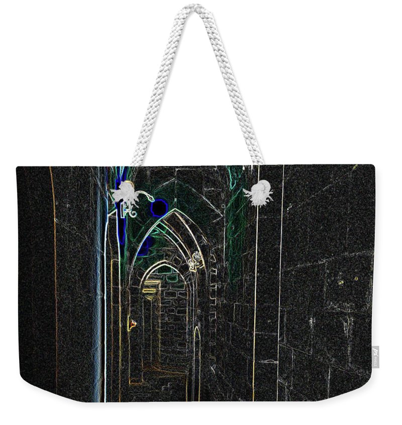 Photograph Weekender Tote Bag featuring the photograph Dungeon Passage by Nicole Parks