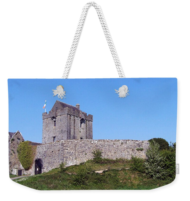 Irish Weekender Tote Bag featuring the photograph Dunguaire Castle Kinvara Ireland by Teresa Mucha