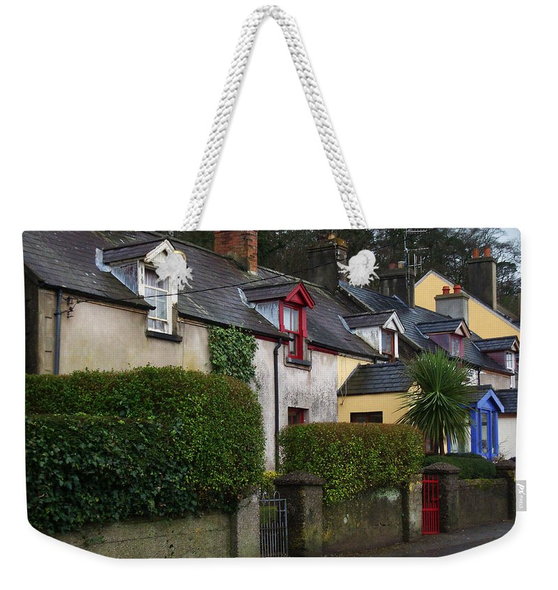 Ireland Weekender Tote Bag featuring the photograph Dunmore Houses by Tim Nyberg