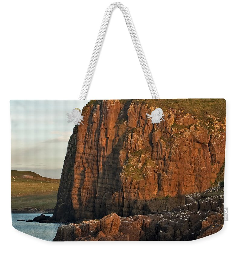 Scotland Weekender Tote Bag featuring the photograph Duntulm Castle by Colette Panaioti