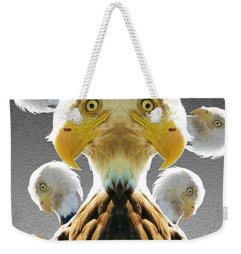 Duplicity Weekender Tote Bag featuring the digital art Duplicity by Ron Bissett