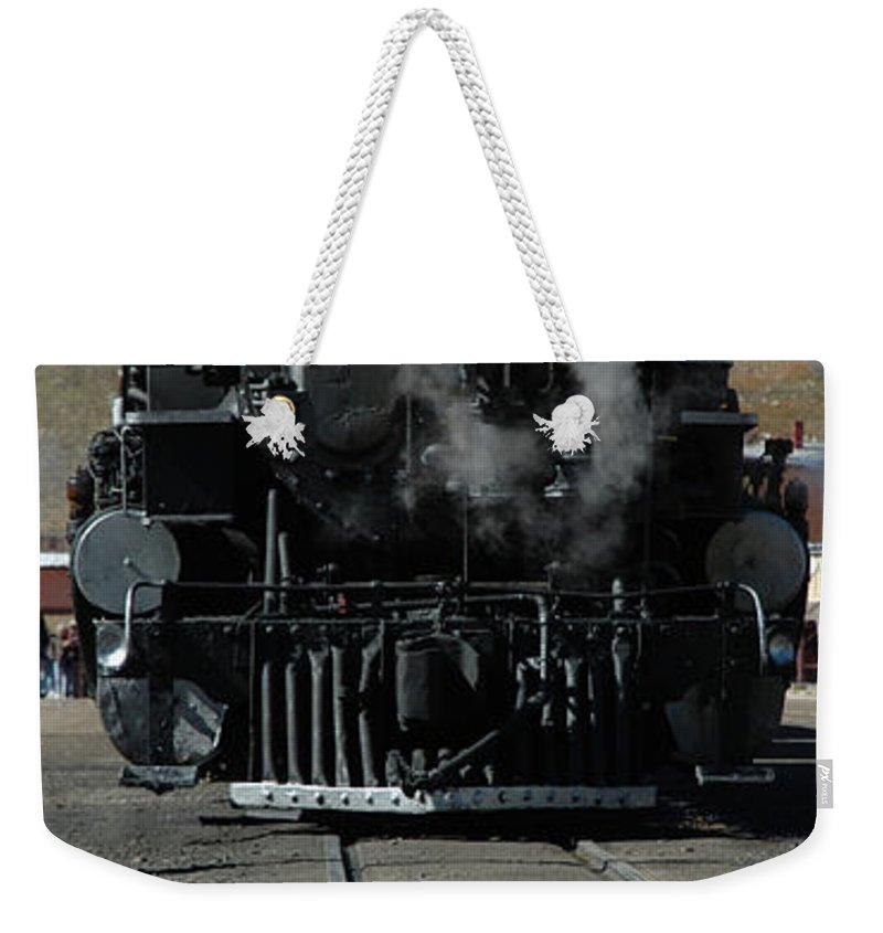 Steam Weekender Tote Bag featuring the photograph Durango Silverton Narrow Guage by Jerry McElroy