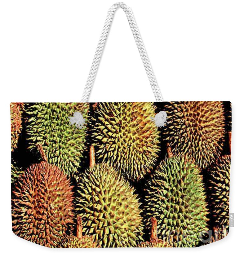Durian Weekender Tote Bag featuring the photograph Durian by Dragica Micki Fortuna