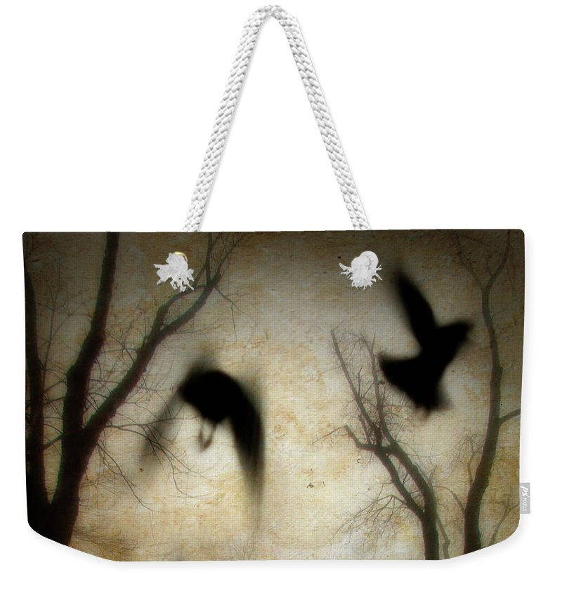 Trees Weekender Tote Bag featuring the photograph Dusk Begins As The Crows Fly by Gothicrow Images