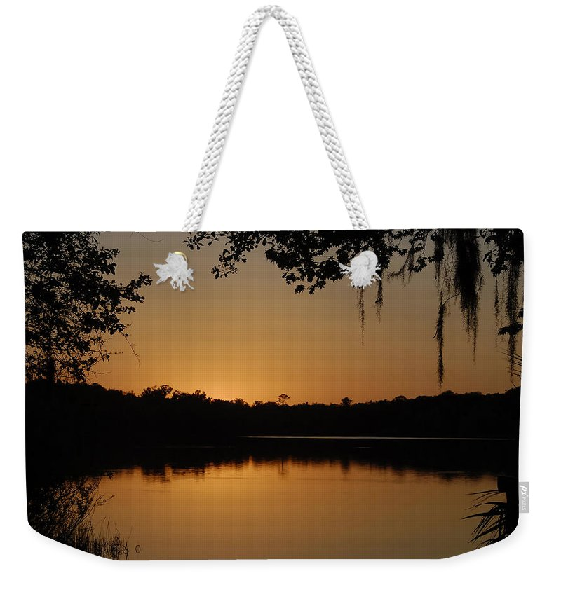 Dusk Weekender Tote Bag featuring the photograph Dusk by David Lee Thompson